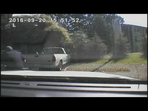 Dashcam footage of the Keith Lamont Scott case