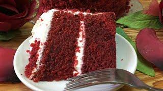 RED VELVET CAKE  RECIPE   SUPER SIMPLE AND MOIST!!