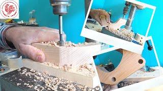 Свердлимо без сколів отвір у дерев'яній іграшці/Drill without chipping a hole in a wooden toy