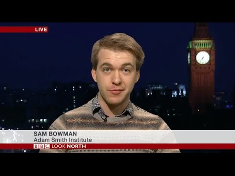 Sam Bowman defends zero-hours contracts on BBC Look North