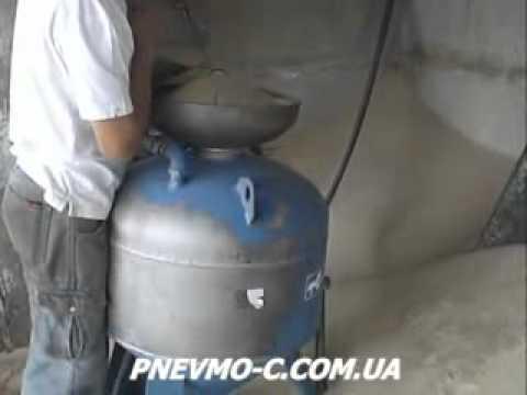 обзор пескоструйной установки АСО-150 часть 1 (подготовка) - YouTube