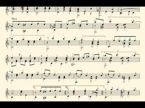 Partitura vals venezolano raul borges para guitarra for Partituras guitarra clasica