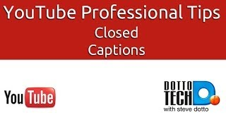 Closed Captioning in YouTube