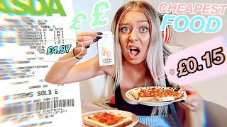 I tried the CHEAPEST food in the SUPERMARKET for 24 HOURS!