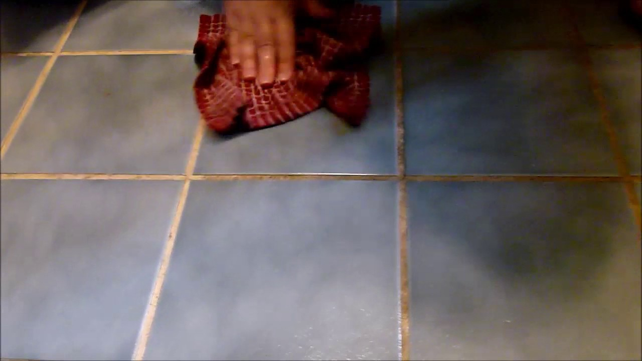 How to Clean Kitchen Tile Grout - YouTube