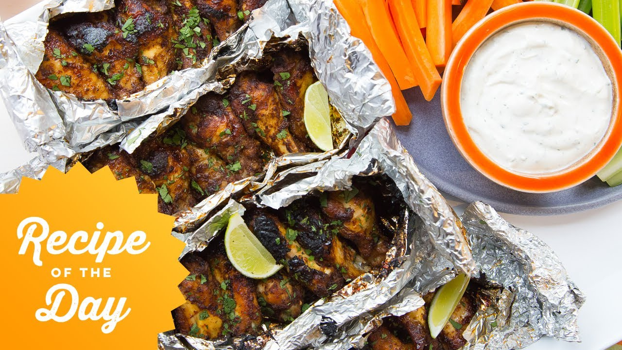 Recipe of the day foil pack grilled chicken wings food network recipe of the day foil pack grilled chicken wings food network forumfinder Images