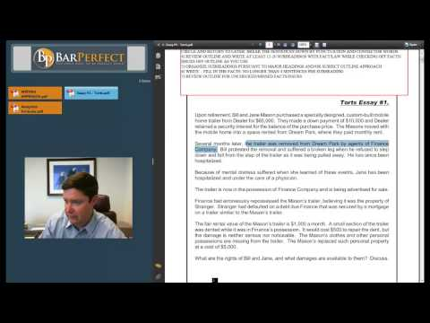 Law School and Bar Exam Writing Approach by BarPerfect