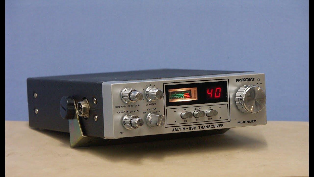 PRESIDENT Mc Kinley DX, SSB/AM/FM, CB & HAM radio