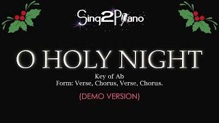 Sing2piano O Holy Night Key Of Ab Piano Karaoke