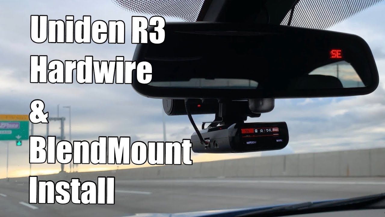 V81: Uniden R3 Hardwire and BlendMount Install DIY: the best radar detector  - no need for R7
