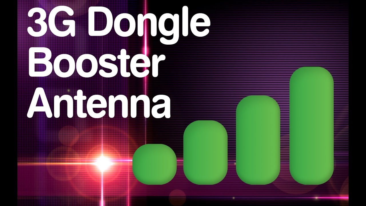 3G Mobile Broadband Dongle Booster Antenna - YouTube