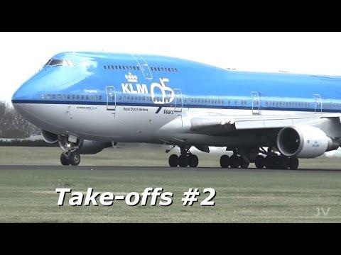 Amsterdam Airport Schiphol planespotting - Take-offs #2