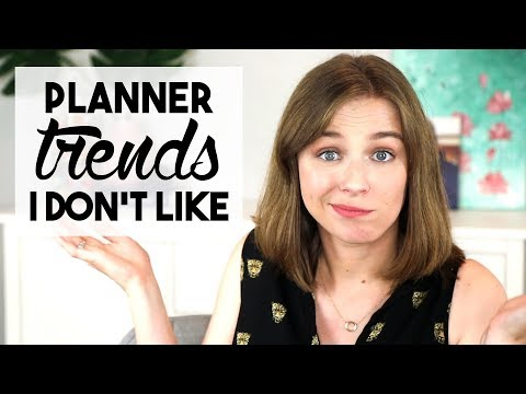 Planner Trends I Don't Like