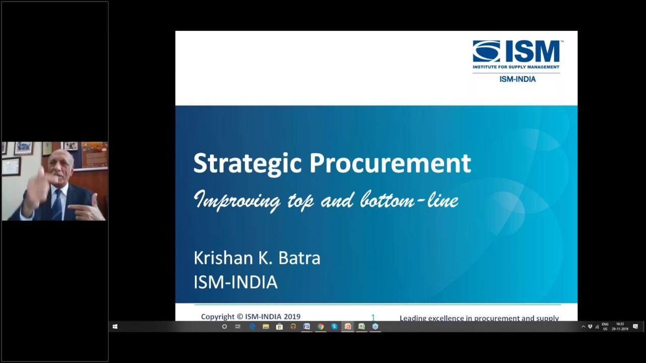 Webinar On Strategic Procurement Youtube
