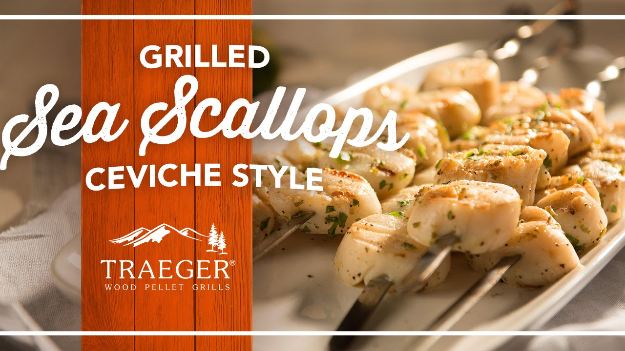 Grilled Sea Scallops Recipe by Traeger Grills - YouTube