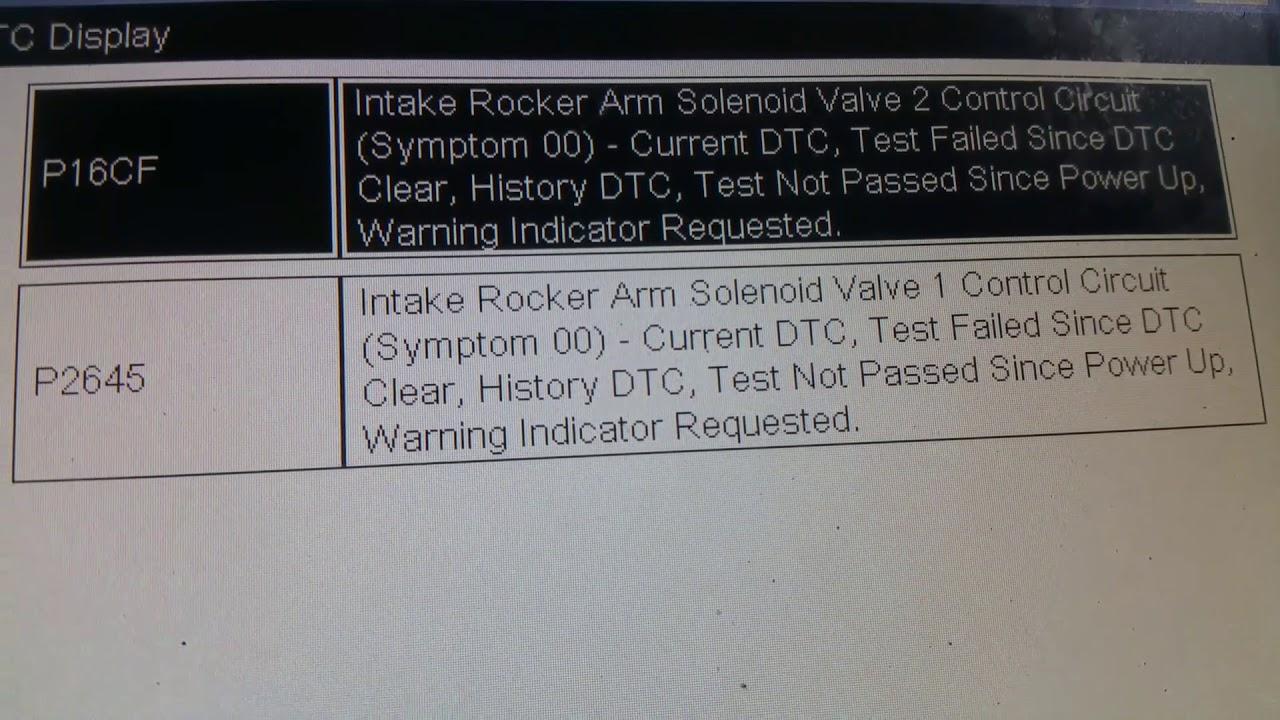 P16cf _ p2645 Chevy Malibu intake rocker arm solenoid valve