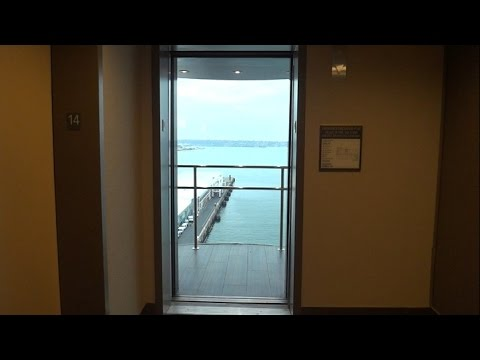 SPECTACULAR! High-Rise Glass Elevators Overlooking San Diego Bay
