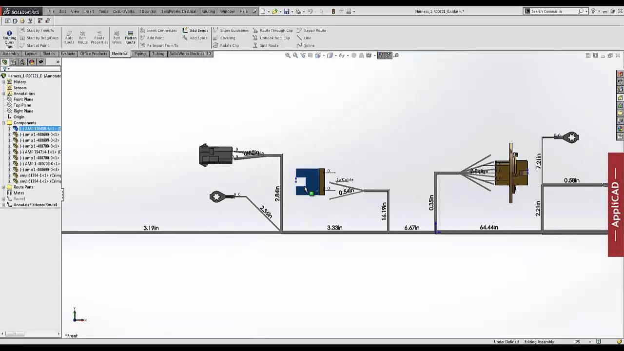 medium resolution of solidworks wire harness tutorial 32 wiring diagram solidworks wire colors diagram wire size