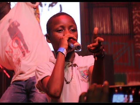 See 5-Year Old boy that raps just like Olamide in Fela Shrine as he shows off his shaku shaku