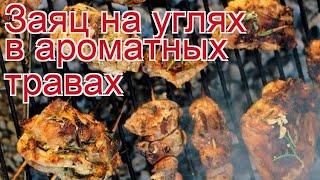 Рецепты из зайчатины - как приготовить зайчатины пошаговый рецепт - Заяц на углях в ароматных травах
