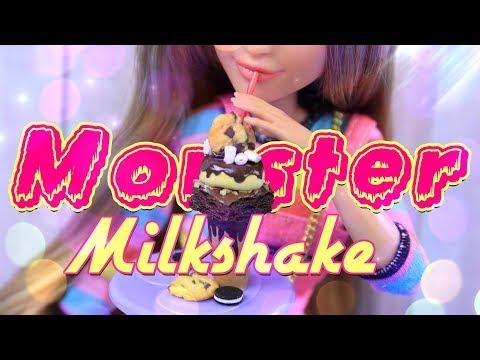 DIY – How to Make: MONSTER MILKSHAKE – Doll Food Crafts
