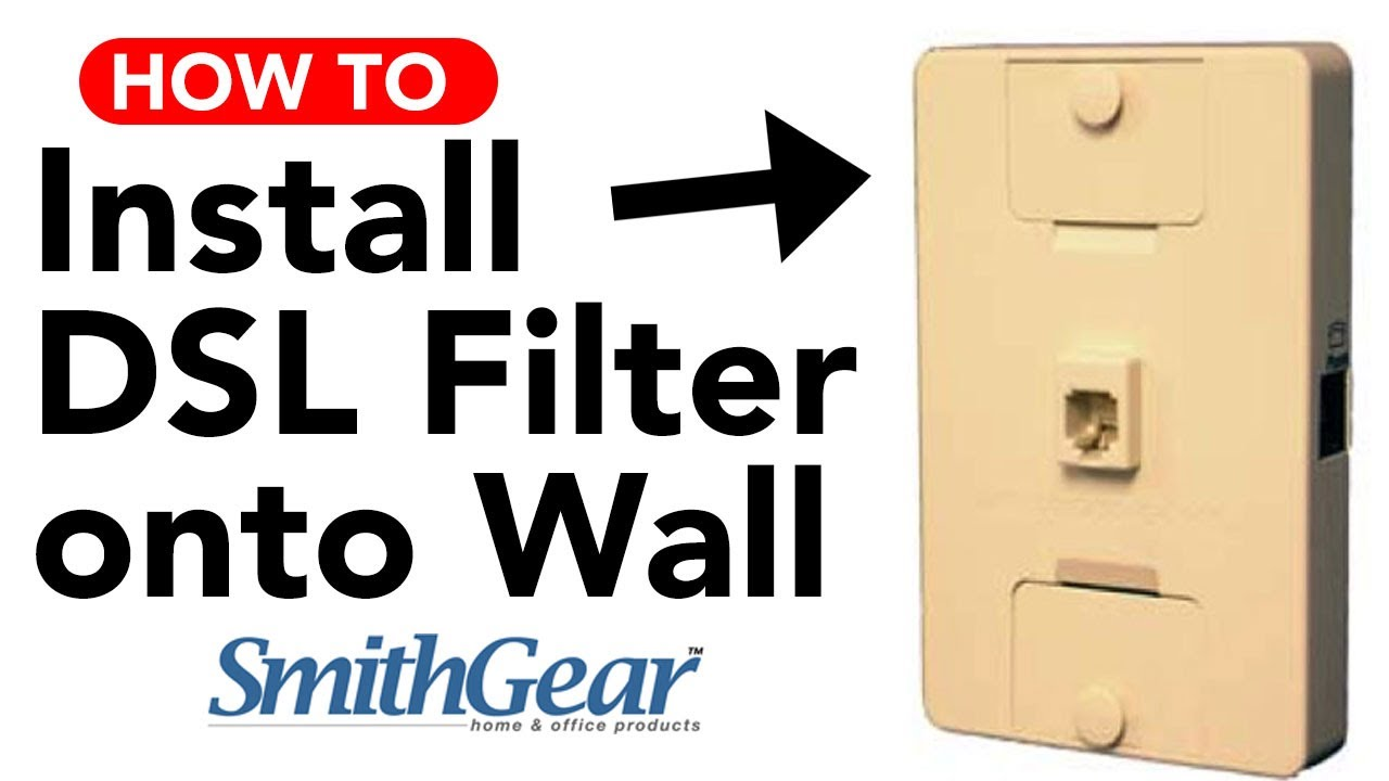 small resolution of dsl filter for wall phone jack intstallation youtube wiring diagram dsl filter in the wall
