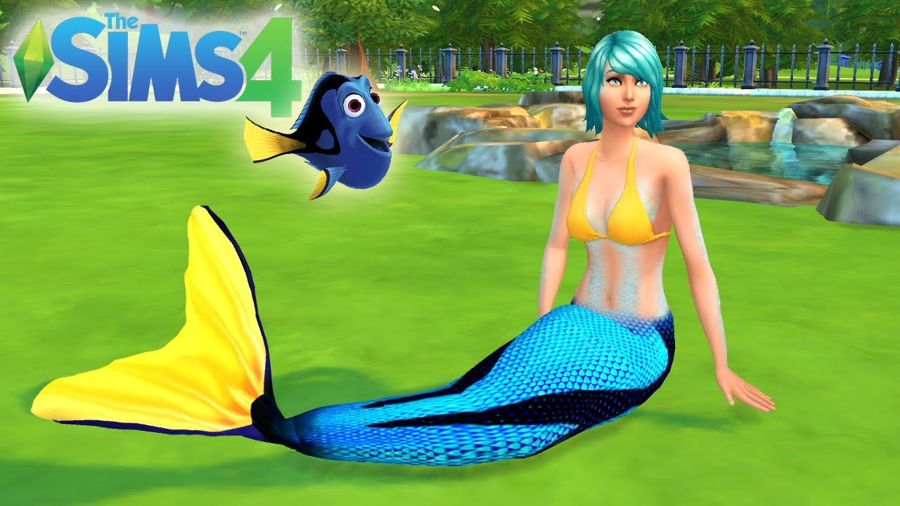 Dory Mermaid Tail - Sims 4 CC - YouTube