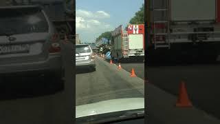 Смотреть видео Дтп варшавское шоссе новая москва 23.06.2018 онлайн