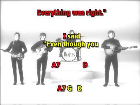 She Said She Said Beatles Mizo Vocals Lyrics Chords Youtube
