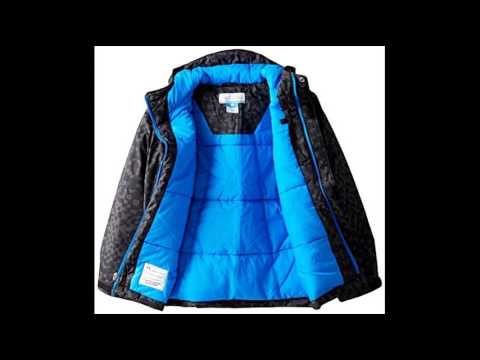 c868e6895 Columbia Big Boys Lightning Lift Jacket, Black/Hyper Blue, Medium ...