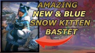 AWESOME NEW BLUE SNOW KITTEN BASTET SKIN  Masters Ranked 1v1 Duel  SMITE