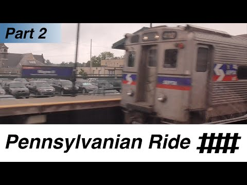30th Street Station in Philadelphia to Paoli Station: Amtrak Pennsylvanian Ride Part 2 of 10