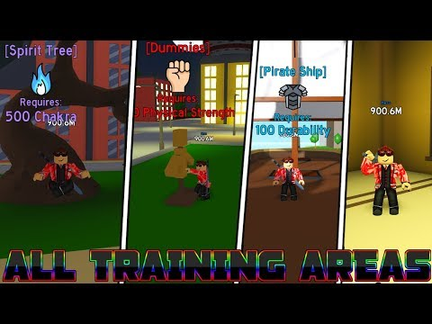 ALL Training Areas in Anime Fighting Simulator - IN DETAIL