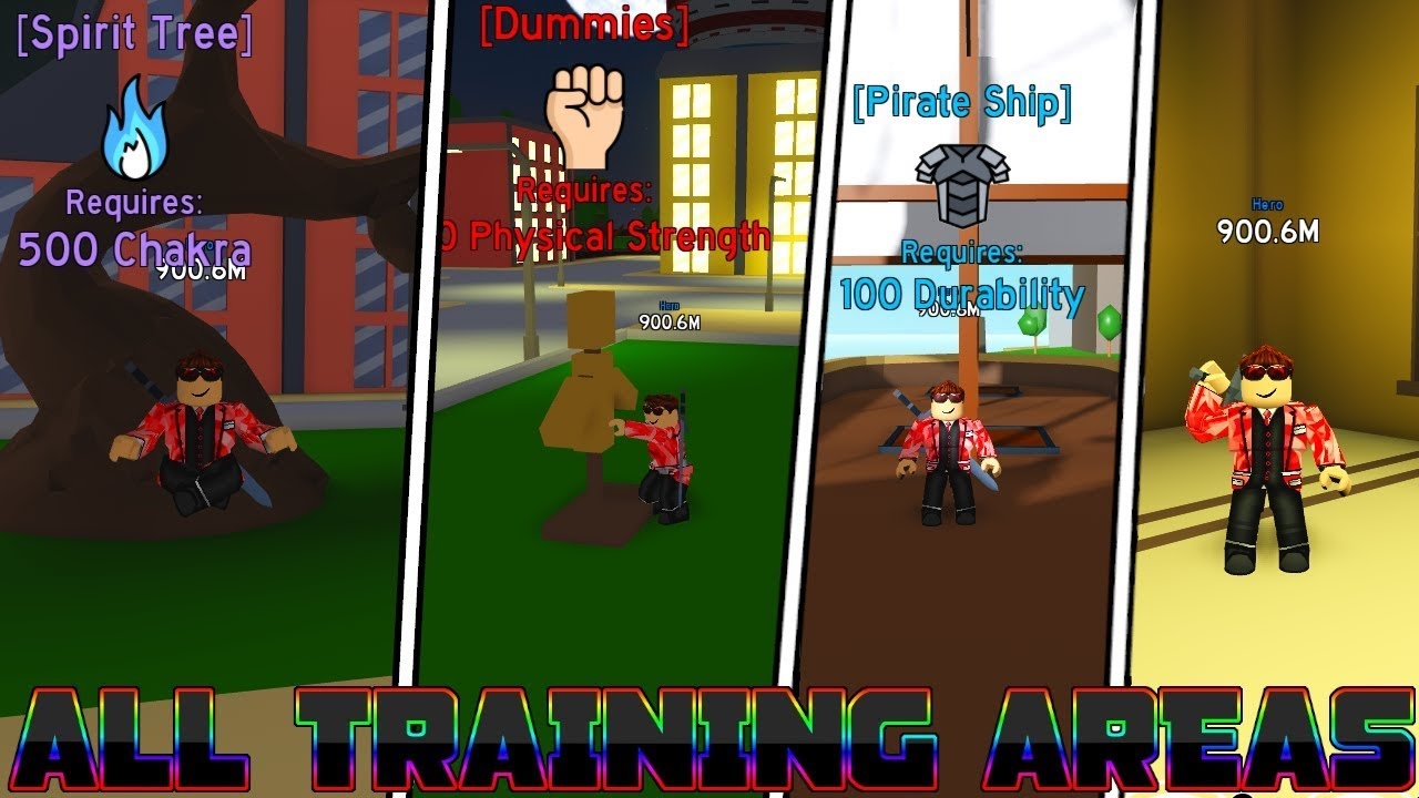 All Training Areas In Anime Fighting Simulator In Detail Youtube