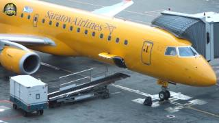 Saratov Airlines Embraer 195 YELLOW BIRD Moscow Domodedovo - Saratov [AirClips full flight series]