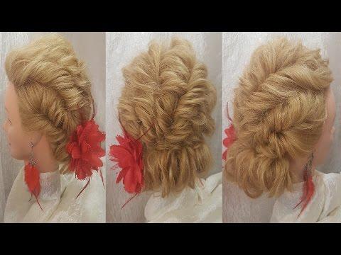Прически объемные свадебные, прически на длинные волосы низкий пучок из жгутов  hairstyles быстрые