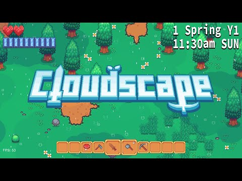 Cloudscape Solo Indie Game Dev Log #1 - Introduction And Play Through