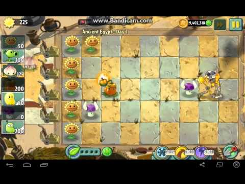 Plants vs. Zombies 2 - Ancient Egypt Day 1! [Replay]