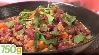 Recette du Chili Con Carne / Chili Con Carne recipe - English subtitles - 750 Grammes