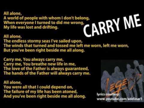 Carry me-legend seven with lyrics