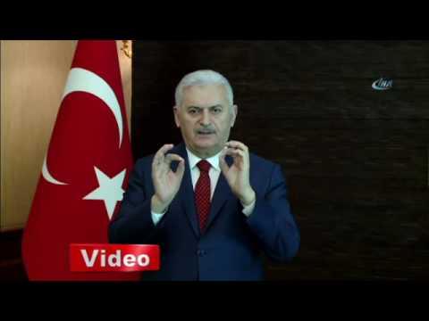Başbakan Yıldırımdan işaret diliyle evet çağrısı
