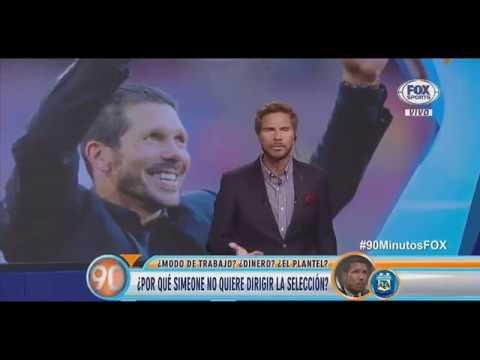 ¿Por qué Simeone NO quiere dirigir la Selección Argentina? | Debate en 90 Minutos de Fútbol