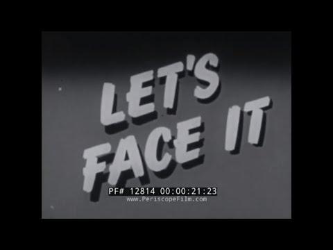 """LET'S FACE IT""  1954 FEDERAL CIVIL DEFENSE  HYDROGEN BOMB SURVIVAL & ATOMIC TESTS FILM 12814"