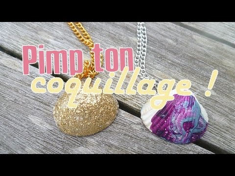 [DIY] Bijoux En Coquillage Décorés : Marbré & Pailleté / Summer DIY