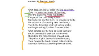 Anthem for Doomed Youth - Wilfred Owen