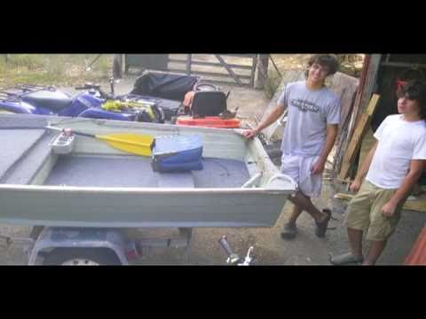 how to make a false floor flat bottom boat