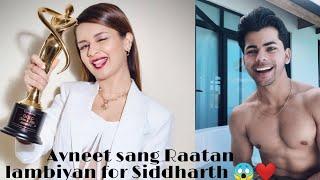 Avneet Kaur singing Rataan lambiyan for Siddharth❤️#shorts#avneetkaur#raataanlambiyan#sidneet#singer