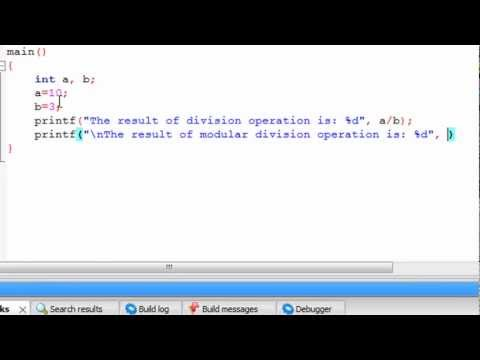 C Programming Tutorial-8: Modular Division