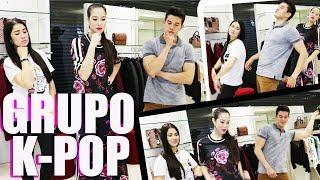 REAGINDO A K-POP COM MEUS IRMÃOS | Glitter Total