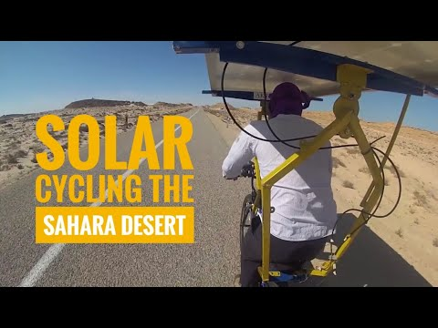 AKT Solar Bike - cycling across the Sahara and raising money for Oxfam: #AKTSolarSaharaChallenge